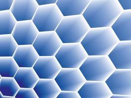 Priorità bassa di concetto a nido d'ape su arte grafica vettoriale.
