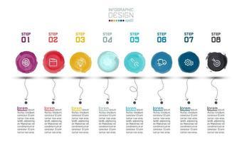 Infografica etichetta acquerello moderno vettore
