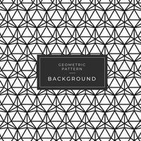 Motivo a mosaico monocromatico a triangolo bianco e nero vettore