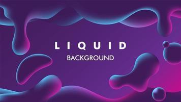 illustrazione liquida viola colorata