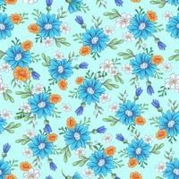 Seamless pattern di fiori selvatici vettore