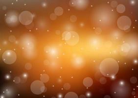 Glitter bokeh oro chiaro sfondo vettore