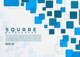 Design moderno con sfondo quadrato