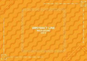 Progettazione di linea tratteggiata del fondo giallo astratto vettore