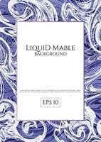 Sfondo di marmo liquido blu viola vettore