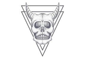 triangolo del cranio del diavolo vettore