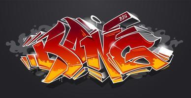 bang graffiti arte vettoriale