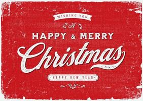 Cartolina di buon Natale vintage vettore