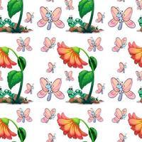Farfalla e fiore senza soluzione di continuità