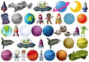 Set di elementi spaziali vettore