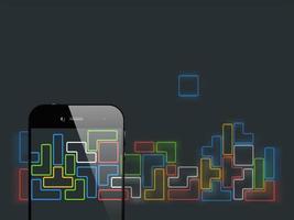 Gioco per smartphone tetris vettore
