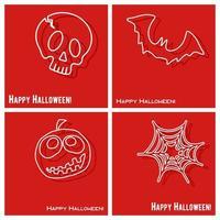 Insieme felice del modello di copertura di Halloween vettore