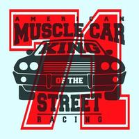 T-shirt con stampa muscle car americana
