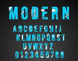 Design moderno di carattere alfabeto vettore