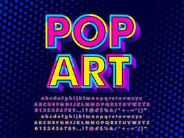 Effetto di testo 3D Pop Art vettore