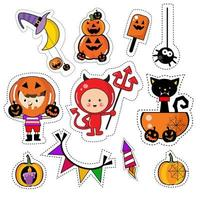 Set di patch adesivo icona di Halloween