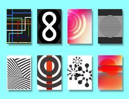 Insieme di vari disegni geometrici poster vettore