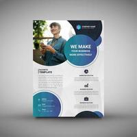 Modello di brochure aziendale vettore
