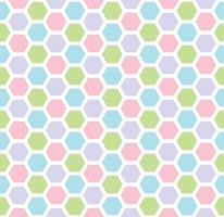 Fondo senza cuciture geometrico di esagono multicolore vettore