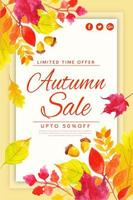Manifesto di vendita di foglie d'autunno