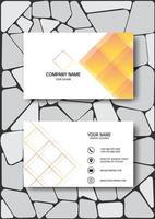 Modello di biglietto da visita elegante con design a diamante vettore