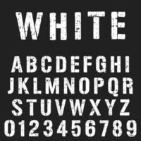 Modello di carattere alfabeto stencil vettore