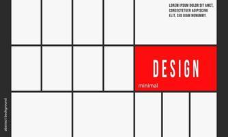 Modello di sfondo design minimale