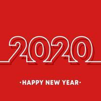 2020 modello di felice anno nuovo. vettore
