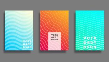Copertina a gradiente colorato per volantini, poster, brochure, tipografia o altri prodotti di stampa vettore