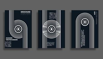 Set di sfondo di design minimale per banner, flyer, poster, brochure copertina o altri prodotti di stampa