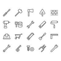 Insieme dell'icona relativo agli strumenti della costruzione