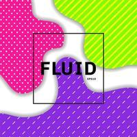 Astratto di colore vibrante fluido o liquido
