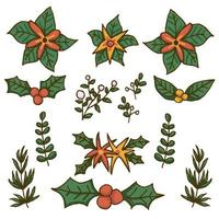 Vettore premio degli elementi della corona di Natale