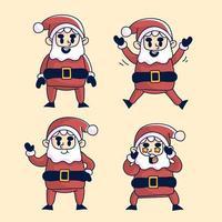 Natale insieme di azioni di Babbo Natale vettore