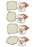 Chat di bolle di Natale Babbo Natale vettore