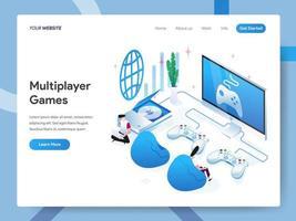 Modello della pagina di destinazione dei giochi multiplayer
