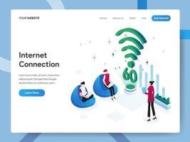 Modello di pagina di destinazione della connessione Internet vettore