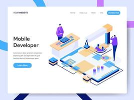 Modello di pagina di destinazione di Mobile Developer
