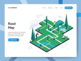 Modello di pagina di destinazione di Road Map