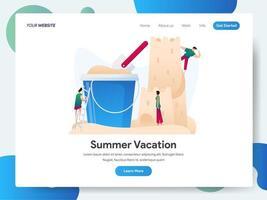 Modello di pagina di destinazione delle vacanze estive