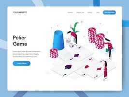 Modello della pagina di destinazione del gioco del poker