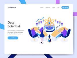 Modello di pagina di destinazione di Data Scientist vettore