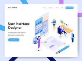 Modello di pagina di destinazione di User Interface Designer