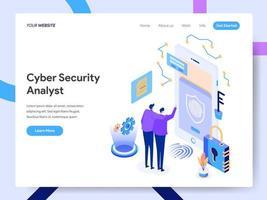 Modello di pagina di destinazione di Cyber Security Analyst