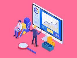 Concetto di investimento online. vettore