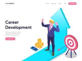 Concetto di sviluppo di carriera della pagina di destinazione