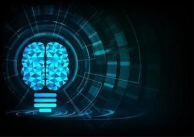 Visualizzazione della connessione neurale di intelligenza artificiale vettore