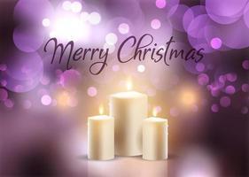 Sfondo di candele di Natale vettore