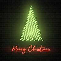 Segno al neon dell'albero di Natale
