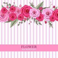 Sfondo rosa fiore rosa vettore